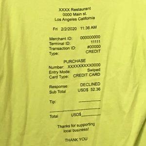 Trendy receipt shirt.
